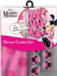 Minnie Mouse Fabric Shower Curtain Set