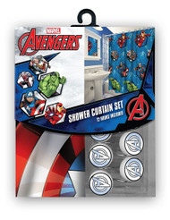 Marvel Avengers Fabric Shower Curtain Set