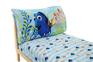Disney Finding Dory 2 Pack Fitted Sheet and Pillowcase Toddler Sheet Set