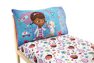 Disney Doc McStuffins 2 Pack Fitted Sheet and Pillowcase Toddler Sheet Set