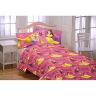 Disney Princess Flannel Sheet Set