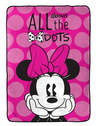 Disney Minnie Mouse 'All About The Dots' Plush Blanket