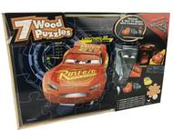Disney Cars 3- 7 Wood Puzzles