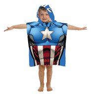 Marvel Avengers Captain America Hooded Bath/Beach/Pool Poncho Towel