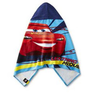 Cars Hooded Bath/Beach/Pool Towel