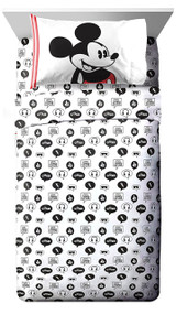 Disney Mickey Mouse Jersey Twin Sheet Set