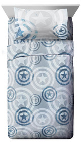 Marvel Captain America Queen Sheet Set