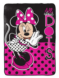 Disney Minnie Mouse All About Dots Twin Blanket