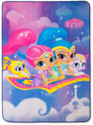 Shimmer and Shine 'Magic Carpet' Plush Blanket