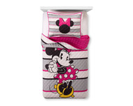 Minnie Mouse Pink & White Quilt Set (Twin/Full)