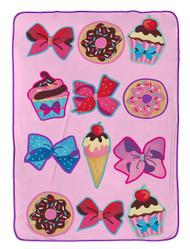 Jojo Siwa Follow Your Dreams Pink Plush Twin Blanket