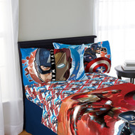 Marvel Captain America Cival War 3 Piece Twin Sheet Set