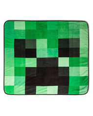 Minecraft Plush Throw Blanket Creeper