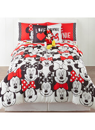 DISNEY Minnie Mouse Who Am I Twin/Full Reversible Comforter