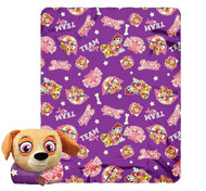 Paw Patrol Skye High Mush' Um Zip Pillow and Throw Set
