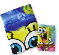 Sponge Bob 2 Piece Bath Set