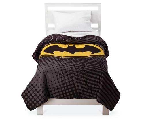 batman twin comforter batman logo reversible. Black Bedroom Furniture Sets. Home Design Ideas