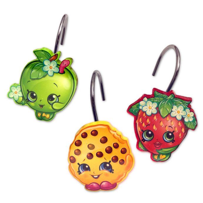 Shopkins Shower Curtain Hooks Image 1