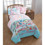 Shoppies Twin Comforter and Sheet Set