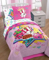 Shopkins Twin Size Comforter and Sheets Set