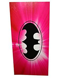 Batman Batgirl Pink Beach & Pool Towel