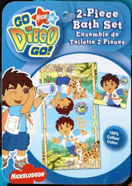Go Diego Go 2-piece Kids Bath Towel Set