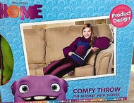 HOME Comfy Throw Blanket with Sleeves