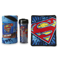 Superman Fleece Throw and Travel Mug Set