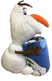 Olaf Plush Figurine Doll Hugger and Blanket