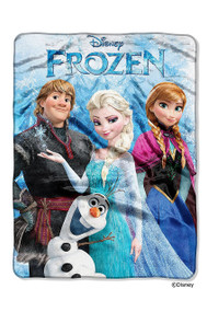 Disney's Frozen Plush Raschel Throw Blanket