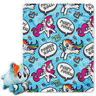 My Little Pony Pillow and Throw Set - Rainbow Dash