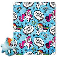 My Little Pony Pillow and Throw Set - Rainbow Dash