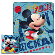 "Mickey Mouse ""Make Friends"" Pillow & Throw Set"