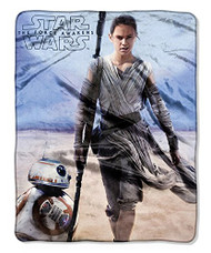 Star Wars Rey & BB-8 Silky Soft Plush Throw Blanket