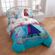 Disney Frozen Anna and Elsa Celebrate Love Floral Sheet Set, Twin