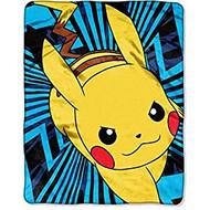 Pokemon Zip Pika Silky Soft Throw