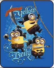 Despicable Me Minions Yellow Belly Fleece Throw