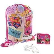 Shopkins Girls' 3pc Gift Set Drawstring Bag