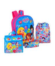 Splashlings 5 piece Backpack School Set