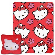 Hello Kitty Plush Pillow and Throw - Red