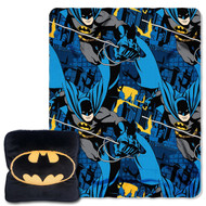 Warner Brothers Batman Plush Pillow and Throw