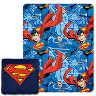 Warner Brothers Superman Plush Pillow and Throw-