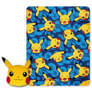 Pokemon Pillow and Throw-  Pika Applique Big Face