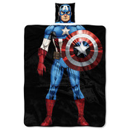 Captain America Pillow and Throw