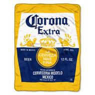 Corona Beer Micro Raschel Throw- Gold/Blue
