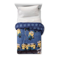 Despicable Me 3 Minions Twin Comforter-Blue