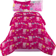 Peppa Pig Twin/Full Comforter-Pink