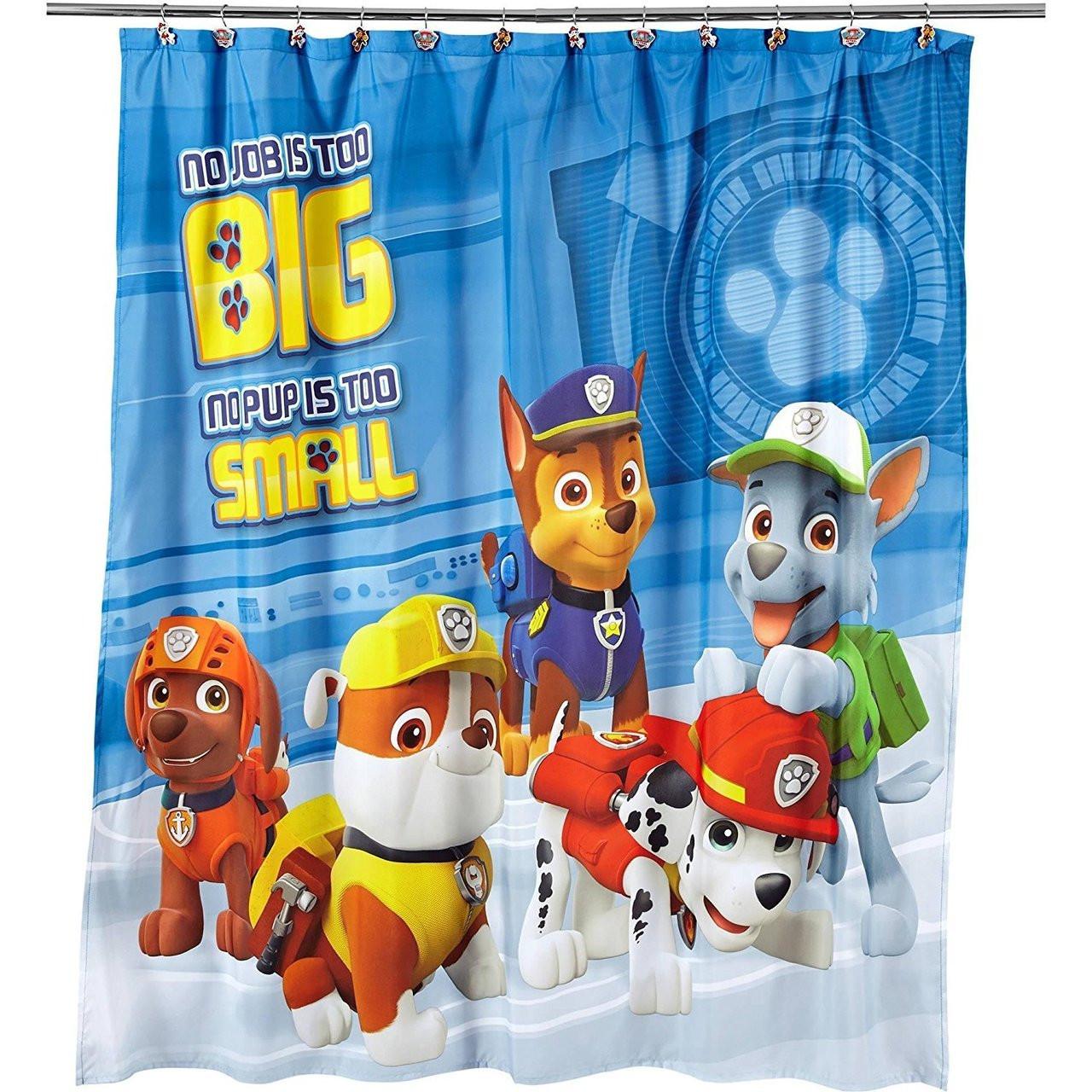 Paw Patrol Fabric Shower Curtain Rescue Crew