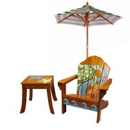 Outdoor Table and Adirondack Chair Set