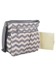 Baby Essentials Grey Chevron Diaper Bag